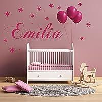 Wandtattoo AA1012 Wunschnamen personalisiert für das Kinderzimmer, Baby Taufe.Geburt