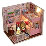 LEAP-G DIY Dollhouse Kit De Maison De Poupée Miniature Maison De Poupée,LED