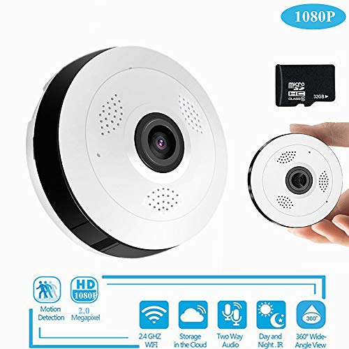 Überwachungskamera Hd 360 Grad Panoramic Wide Winkel Mini CCTV Camera Smart Ipc Wireless Fisheye Ip Camera P2p 960p Hd Home Security WiFi Kamera 360-grad-cctv