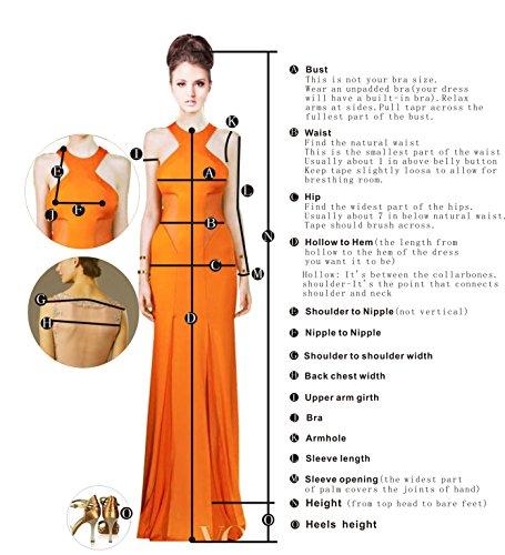 Bbonlinedress Robe de cérémonie Robe de demoiselle d'honneur en mousseline longueur ras du sol Corail