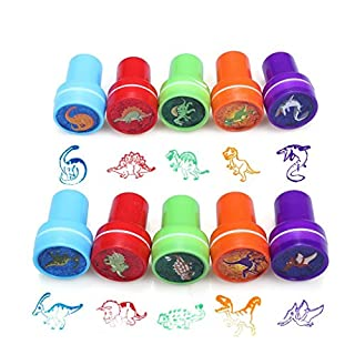Cute Carton Stampers Kit Tool Set Of 10 Decorate Cards Crafts For Kids Children (Dinosaur world stamping)