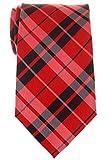 Retreez Herren-Krawatte, kariert, gewebt, Mikrofaser, 80 mm, verschiedene Farben Gr. onesize, rot / schwarz