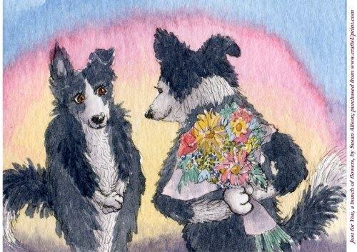 Feuille A4 pour confection de carte de vœux - Just for you, a bunch of flowers par Susan Alison