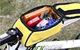 4 X Roswheel Cycling Bike Bicycle 4.8 inches Mobile Cell Phone Pannier Front Top Tube Bag (Yellow)