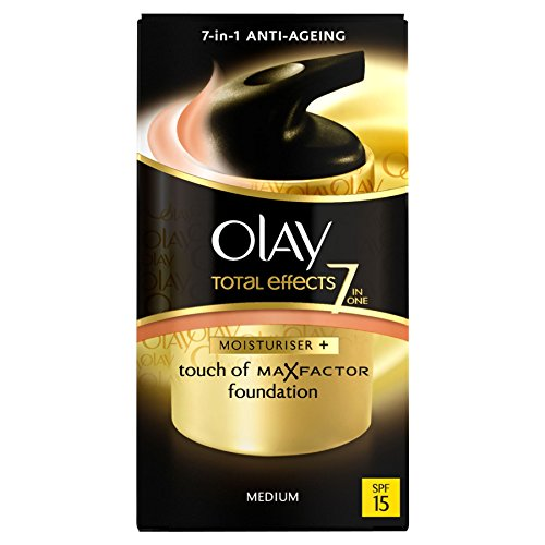4 x Olay Total Effects 7 en 1 hydratant + TOUCH OF Max Factor Foundation – Medium SPF 15 50 ml