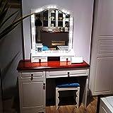 BAYTTER 24W LED Spiegelleuchte Schminklicht Kaltweiß 6000K dimmbare Glühlampen für Make-up Kosmetikspiegel Spiegel in Umkleidekabine