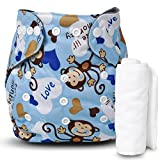 Motherly Reusable Washable Cloth Diapers Nappies with Insert for Babies