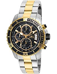 Invicta Pro Diver Men's Chronograph Quartz Watch with Stainless Steel Gold Plated Bracelet – 22418