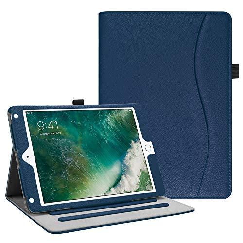 Fintie Hülle für iPad 9.7 Zoll 2018 2017 / iPad Air 2 / iPad Air - [Eckenschutz] Multi-Winkel Betrachtung Folio Stand Schutzhülle Case mit Dokumentschlitze, Auto Wake/Sleep, Marineblau