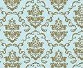 Klebefolie - Möbelfolie Ornamente Gold Hellblau - 45 cm x 200 cm von AS4HOME auf TapetenShop