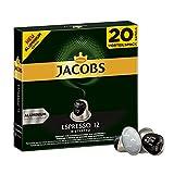 Jacobs Kapseln Espresso Ristretto - Intensität 12 -  200 Nespresso®* kompatible Kaffeekapseln aus Aluminium (10 x 20 Kapseln)