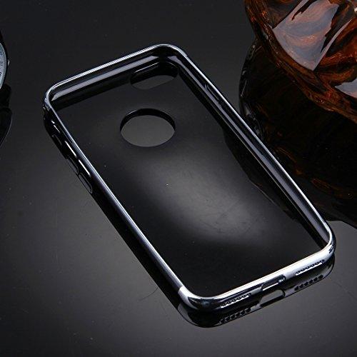 IPhone 7 Fall Spiegel TPU schützender Abdeckungs-Fall für iPhone 7 Fall by diebelleu ( Color : Rose gold ) Silver