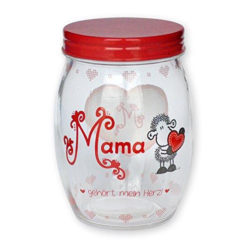 Sheepworld 43950 Pot en Verre avec Maman est Mon cœur.