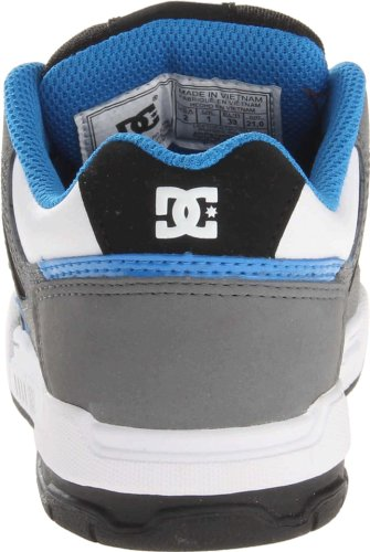 DC Shoes  Stag B, Sneakers Basses garçon Multicolore - Grey/Blue