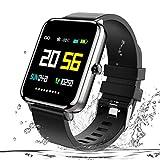 Zagzog Smartwatch, IP68 Wasserdicht Fitness Uhr 1,54 Zoll Voller Touch Screen Fitness Armband Sport Fitness Tracker mit Schlaftracker Schrittzähler für Herren Damen Smart Watch für...