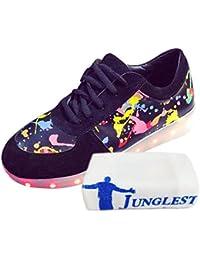 78c580e19910  Present kleines Handtuch JUNGLEST® Lackleder High-Top 7 Farbe LED  Leuchtend Sport Schuhe Glow Sneakers USB Aufladen…