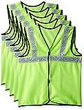 #2: Safari Pro 2' Inch Reflective Safety Jacket, Green, Fabric Type, Set of 5