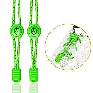 High Pulse Schnellschnürsystem – EIN Paar elastische Schnürsenkel mit Schnellverschluss für einen perfekten Sitz und sicheren Halt (Neongrün)