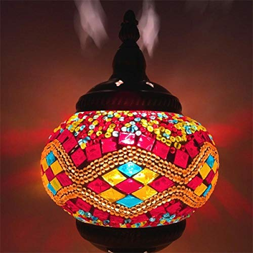 Mosaik Hängelampe handbemalt Glas marokkanische Lampe Schlafzimmer Bar Küche Dekoration Mosaik Hängelampe Zweig braun -