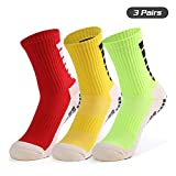 Festnight Men's Anti Slip Football Socks Compression Athletic Socks for Basketball Soccer Volleyball Running Trekking Hiking 1 Pairs / 3 Pairs