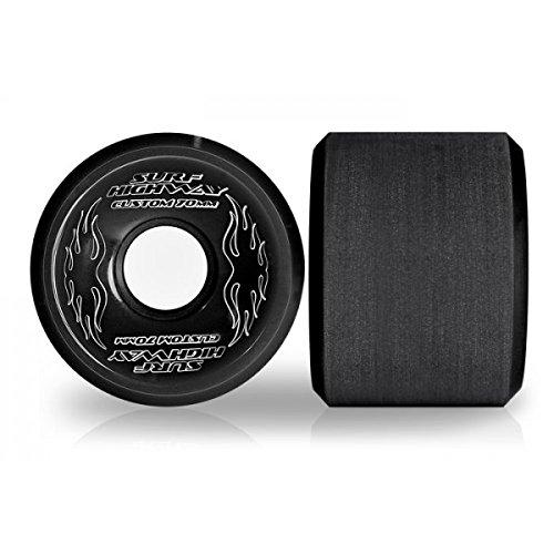 Hammond Surf Highway Wheels Longboard Rollen 4 stk. schwarz Ø 70mm 84A