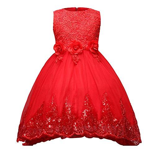 Prinzessin Kleid Mädchen Bowknot Brautjungfern Kleid Lange Abendkleid Blumen Cocktailkleid Hochzeit...