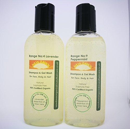 New Dawn Natural & Organic Alopecia / Hair Loss - Shampoo / Conditioner - Sample Pack (Shampoo only 100ml x2)
