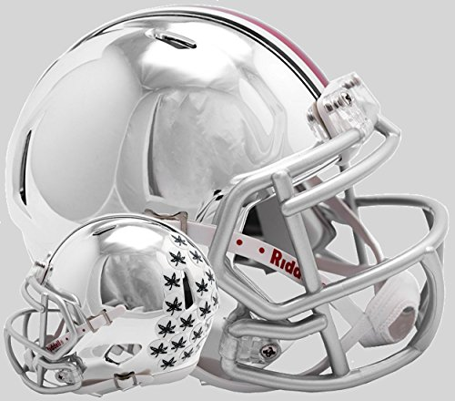 Riddell NCAA Unisex Replica Mini Speed Style Chrome Alternate, Unisex, Ohio State Buckeyes Helmet Replica Mini Speed Style Chrome Alternate, Team Colors, Einheitsgröße (Ncaa-team)