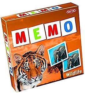 Tactic Wildlife Memo - Juego de Tablero (Niños, Niño/niña, DUT, Interior, Caja)
