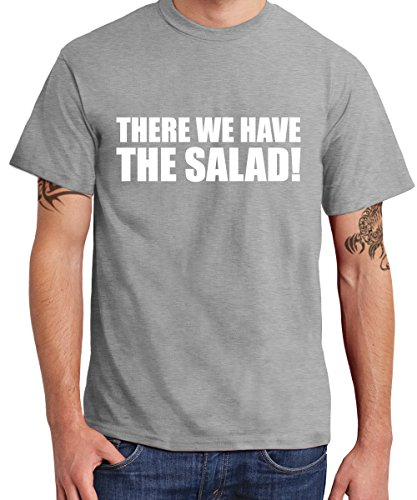 ::: THERE WE HAVE THE SALAD! ::: T-Shirt Herren Sports Grey mit weißem Aufdruck
