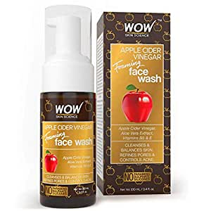 WOW Apple Cider Vinegar No Parabens, Sulphate & Silicone Foaming Face Wash, 100mL