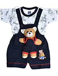 dd8372e7ff84 Roble Party Wear Romper Baba Suit Dungree Jumpsuit Blue Outfits For Newbron  Babies Boys   Girls