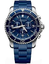 Victorinox Swiss Army - 241690 - Montre Homme - Quartz - Chronographe - Bracelet Plastique Bleu
