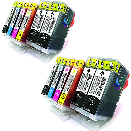 12 cartuchos de tinta BCI-3E BK compatible con, BCI-6C, BCI-6M, BCI-6Y para CANON Pixma IP3000 IP4000 IP4000R IP5000 MP750 MP760 MP780 i550 i560 i865