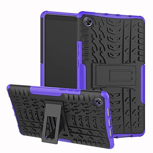 YQXR Handy Zubehör Duple Layer Crossbreed Armor Kickstand 2 in 1 stoßfestes Tablet Case für Huawei MediaPad M5 8.4 Zoll (2018 Release) (Farbe : Lila) Camera Armor Lens