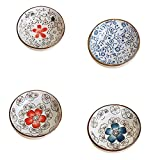 4 PCS farbige Glasur Platten exquisite Gerichte Geschirr Relish Tray-04