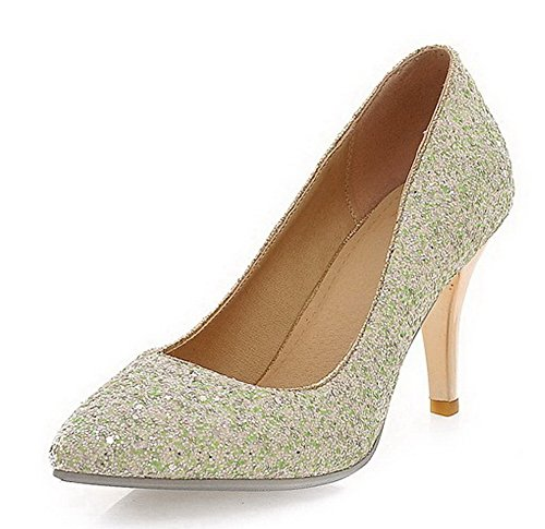 voguezone009-womens-solid-soft-material-high-heels-pull-on-pointed-closed-toe-pumps-shoes-green-43