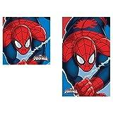 Asciugamano + ospite spiderman bambino 100% cotone