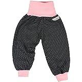 Lilakind Baby Kinder Mädchen Pumphose Hose Babyhose Jersey Punkte Schwarz Rosa Gr. 74/80- Made in Germany