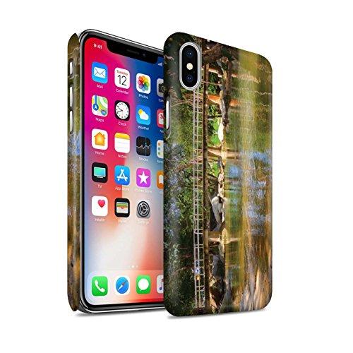 STUFF4 Matte Snap-On Hülle / Case für Apple iPhone X/10 / Felsigen Bach Muster / Thailand Landschaft Kollektion Fußgängerbrücke