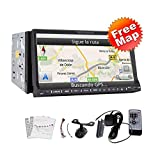 Automotive High Def 7 Zoll USB / SD In Dash 2 Din Car Stereo Zubeh?r DVD-Spieler GPS-Navigation 3D Bluetooth Receiver Doppel L?rm 2 7