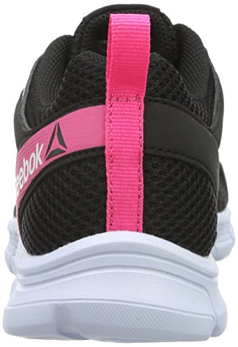 Reebok Run Supreme 2.0, Chaussures de Running Compétition Femme Negro / Rosa / Blanco (Black / Solar Pink)