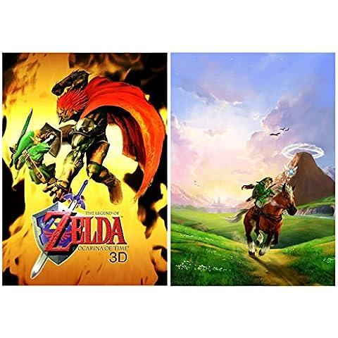 Set of 2 The Legend Of Zelda Ocarina Of Time 3D Posters [Importación Inglesa]