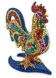 Art Escudellers Figure Decorative in Mosaico Edizione Limitata in Resina Dipinta A Mano con la Tecnica modernista trencadis, al Stile GAUDÍ. 31 cm - 40 cm Gallo