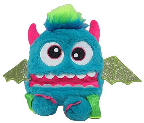 Monster Kinderrucksack Kinder Rucksack Tasche Kindergartentasche Kindergarten Jungen Mädchen Plüsch bunt 9042