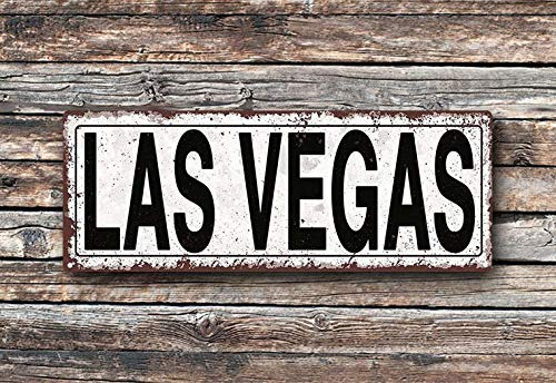 C-US-lmf379581 Las Vegas Metal Street Sign Rustic Vintage - Las Vegas Street Sign