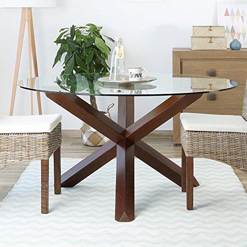 Carot Base Table À Manger Teck - Bois - 112x112x72 cm - Couleur Teck