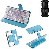 K-S-Trade Flipcover für Jiayu F2 Schutz Hülle Schutzhülle Flip Cover Handy case Smartphone Handyhülle blau