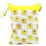 1 STÜCK Babywindel Lagerung Wasserdichte Tasche Doppel-reißverschluss-tasche Outdoor Windel Tasche