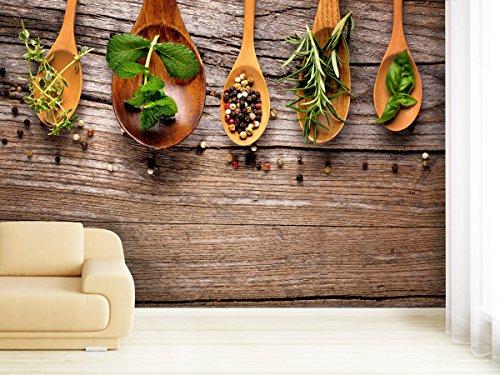 Fototapete Herbs & Spice - weitere Größen und Materialien wählbar - DEUTSCHE Profi QUALITÄT von Trendwände (Lieferung Frische Diät)